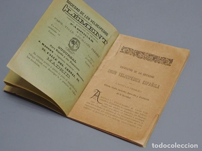 Libros antiguos: ESTATUTOS DE LA SOCIEDAD UNIÓN VELOCÉPICA ESPAÑOLA - FUNDADA EN 1895 - Foto 6 - 166256226