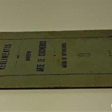 Libros antiguos: REGLAMENTOS DEL MONTEPIO ARTE DE COCINEROS Y MÚTUA DE DEFUNCIONES. 1932.. Lote 166366986