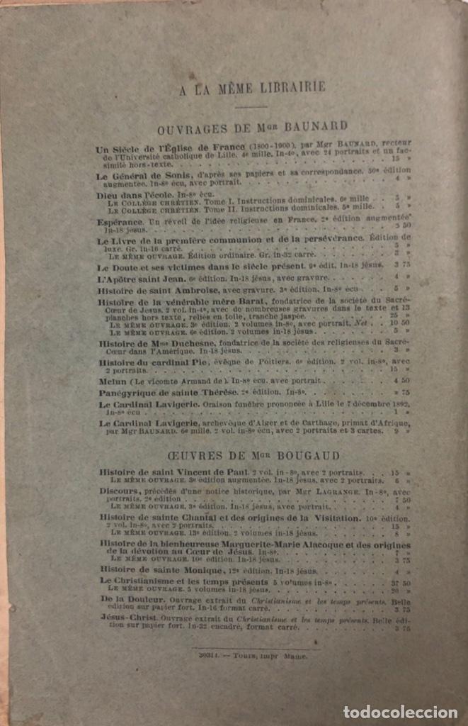 Libros antiguos: LA FOI ET SES VICTOIRES. BAUNARD. SEPTIME EDITION. PARIS, 1901. LIBRO EN FRANCES. 410 PAGINAS. - Foto 4 - 166367290