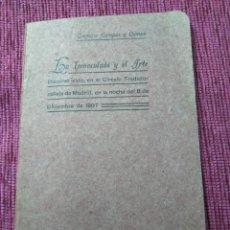 Libros antiguos: FIRMADO POR SU AUTOR. LA INMACULADA Y EL ARTE. 1908. GREGORIO CAMPOS Y CAMPO.. Lote 166462358
