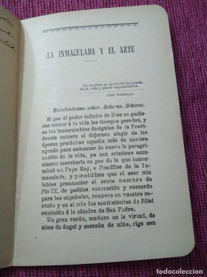 Libros antiguos: Firmado por su autor. La Inmaculada y el Arte. 1908. Gregorio Campos y Campo. - Foto 4 - 166462358