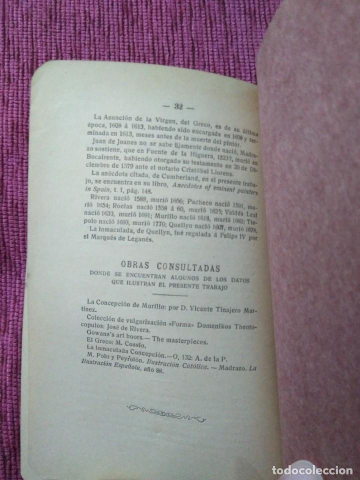 Libros antiguos: Firmado por su autor. La Inmaculada y el Arte. 1908. Gregorio Campos y Campo. - Foto 6 - 166462358
