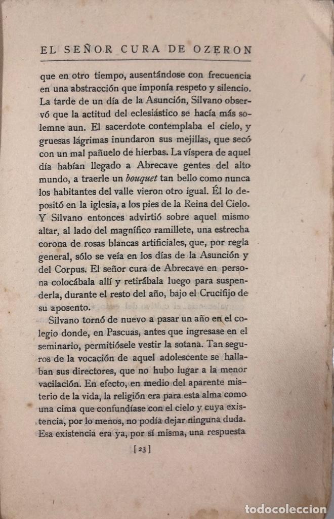 Libros antiguos: EL SEÑOR CURA DE OZERON. FRANCIS JAMMES. EDITORIAL ESTRELLA. MADRID, 1920. - Foto 3 - 166489642