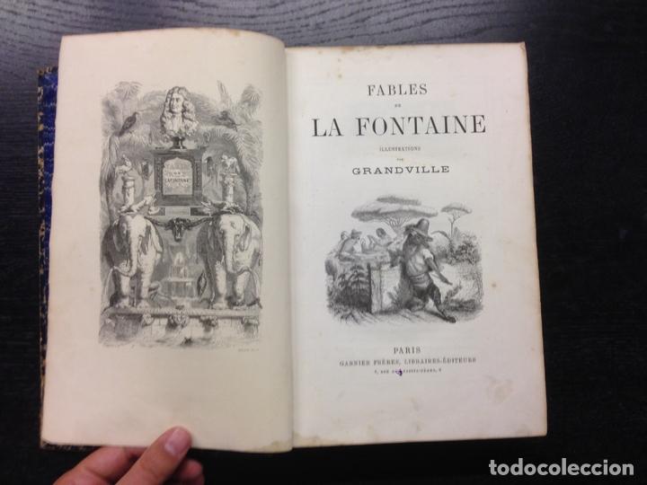 FABLES DE LA FONTAINE, ILLUSTRATIONS GRANDVILLE, 1868 (Libros antiguos (hasta 1936), raros y curiosos - Literatura - Narrativa - Otros)
