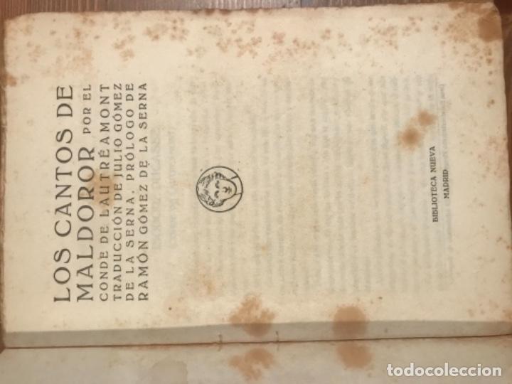 Libros antiguos: LOS CANTOS DE MALDOROR. CONDE DE LAUTREAMONT. TRADUCCION GOMEZ DE LA SERNA. - Foto 2 - 55365244