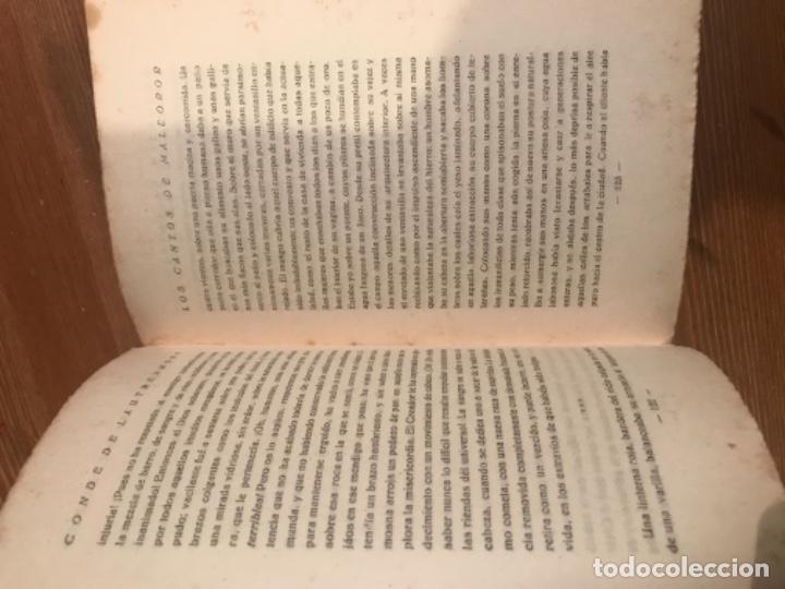 Libros antiguos: LOS CANTOS DE MALDOROR. CONDE DE LAUTREAMONT. TRADUCCION GOMEZ DE LA SERNA. - Foto 4 - 55365244