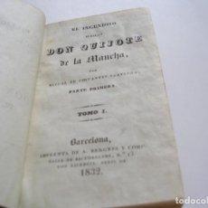 Libros antiguos: CERVANTES. DON QUIJOTE DE LA MANCHA. 6 TOMOS IMP. BERGNES 1832 . Lote 166751570