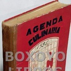 Libros antiguos: DUQUESA LAURA. AGENDA CULINARIA PARA 1934. LIBRO DE LA COMPRA CON MINUTAS Y RECETAS PARA CADA UNO DE. Lote 166816433