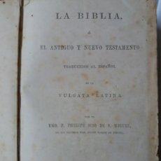 Libros antiguos: LA BIBLIA POR RMO. P. PHELIPE SCIO DE S MIGUEL 1866. Lote 166922464