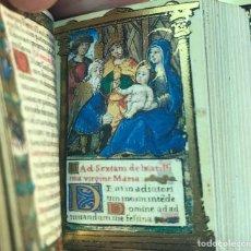 Libros antiguos: MINIATURA. FACSÍMIL LIBRO DE HORAS MÁS PEQUEÑO CONOCIDO 4.8 × 3.2 CM. DE MARIA DE STUART.. Lote 167036372