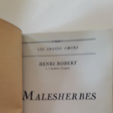 Libros antiguos: LIBRO ANTIGUO MALESIHERBES. Lote 167046908