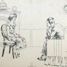 Libros antiguos: ARÍSTIDES RECHAIN. EL MISTERIO DEL ÓPALO. TINTA SOBRE PAPEL. MIDE: 28 X 39. Lote 167052240