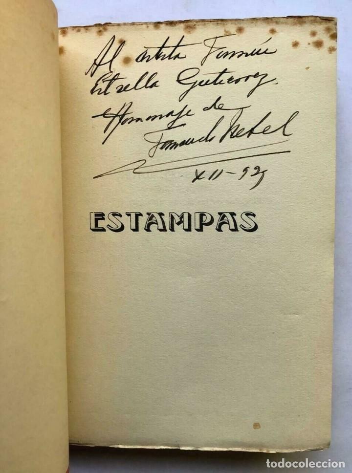 Libros antiguos: Fernando Nébel - Estampas - Versos - Montevideo 1929 - Firmado dedicado SIGNED - Foto 2 - 167052716