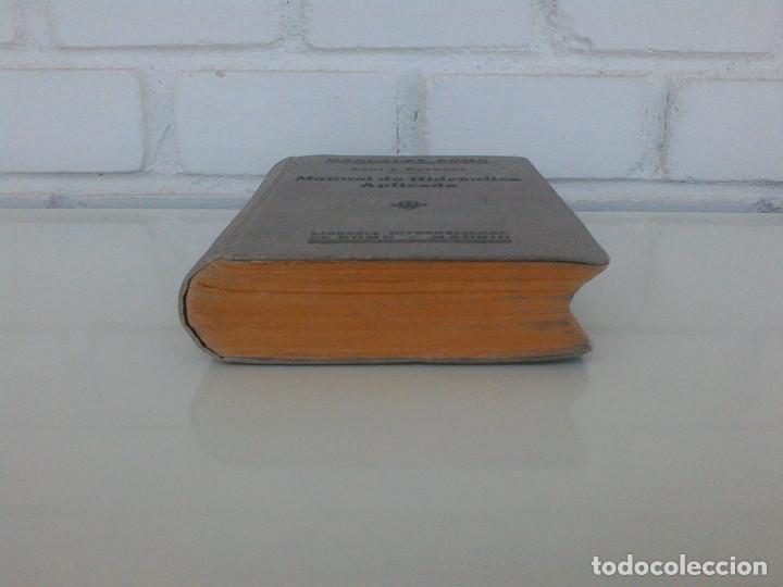 Libros antiguos: ZENI Y PERDONI. MANUAL DE HIDRAULICA APLICADA. MANUALES ROMO. TRAD. ANTONIO ALVAREZ Y REDONDO. 1914 - Foto 3 - 167056256