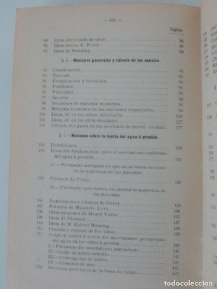 Libros antiguos: ZENI Y PERDONI. MANUAL DE HIDRAULICA APLICADA. MANUALES ROMO. TRAD. ANTONIO ALVAREZ Y REDONDO. 1914 - Foto 12 - 167056256