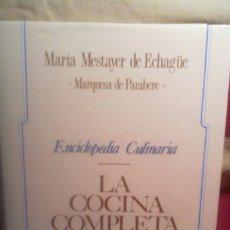 Libros antiguos: ENCICLOPEDIA CULINARIA - LA COCINA COMPLETA .. Lote 167148756