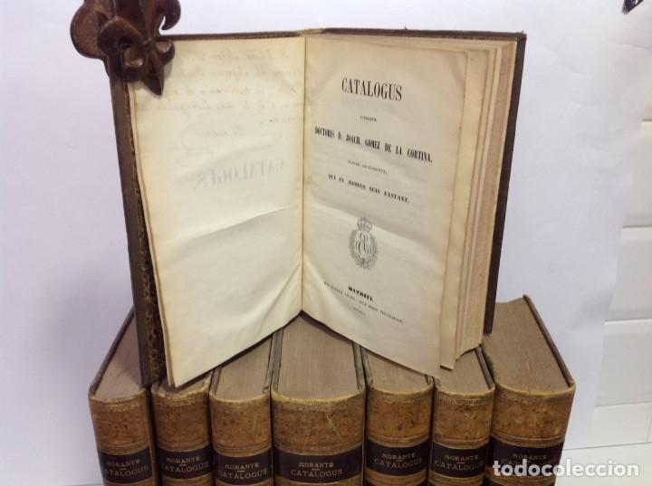 GOMEZ DE LA CORTINA (JOAQUIN) CATALOGUS LIBRORUM QUI IN AEDIBUS SUIS EXISTANT 1854-1862 8 TOMOS (Libros Antiguos, Raros y Curiosos - Bellas artes, ocio y coleccionismo - Otros)