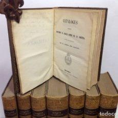 Libros antiguos: GOMEZ DE LA CORTINA (JOAQUIN) CATALOGUS LIBRORUM QUI IN AEDIBUS SUIS EXISTANT 1854-1862 8 TOMOS. Lote 167083460