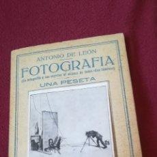 Libros antiguos: ANTIGUO LIBRO DE FOTOGRAFÍA. Lote 167352425