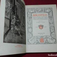 Libros antiguos: (M2.7) R MIQUEL Y PLANAS - BIBLIOFILIA, RECULL D'ESTUDIS SOBRE LLIBRES EN GENERAL LLENGUA CATALANA. Lote 167415180