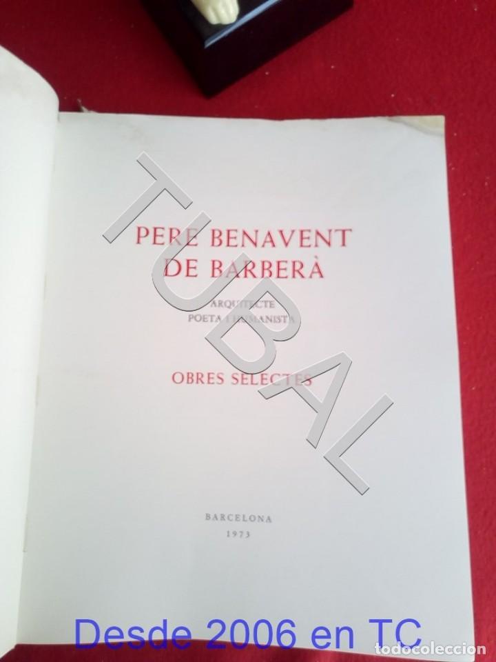 Libros antiguos: TUBAL PERE BENAVENT BARBERA LIBRO - Foto 2 - 167610264