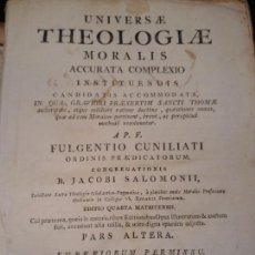 Libros antiguos: LIBRO: UNIVERSAE THEOLOGIAE MORALIS ACCURATA COMPLEXIO - LIBRERIA BERNARDO ALBERA / 1788. Lote 167610932