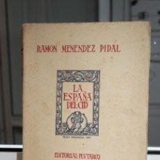 Libros antiguos: LA ESPAÑA DEL CID TOMO II, RAMON MENENDEZ PIDAL.DIBUJOS DE PEDRO MUGURUZA.PLUTARCO 1929. Lote 203614825
