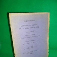 Libros antiguos: TRABAJOS INÉDITOS DE LA ACADEMIA DE CIENCIAS, BELLAS LETRAS Y NOBLES ARTES DE CÓRDOBA, 1880. Lote 167834040