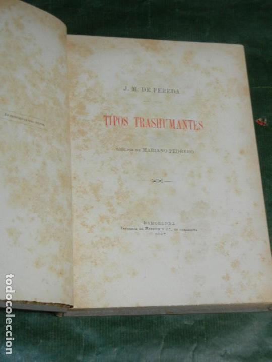 TIPOS TRASHUMANTES, DE JOSE M. DE PEREDA - 1897 (Libros antiguos (hasta 1936), raros y curiosos - Literatura - Narrativa - Otros)