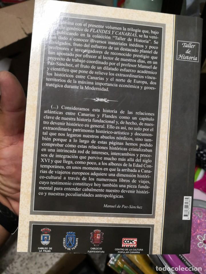Libros antiguos: Flandes y Canarias tapa blanda nuestros orígenes nórdicos 289 páginas año 2007 - Foto 2 - 167855948