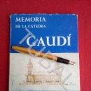 Libros antiguos: TUBAL MEMORIA DE LA CÁTEDRA GAUDÍ CURSO 1968 1969. Lote 167865244
