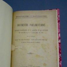 Libros antiguos: DOCUMENTOS PARLAMENTARIOS-DISCURSOS DE VÍCTOR PRADERA, ANTONIO MAURA Y F. CAMBÓ-1918. Lote 167506684