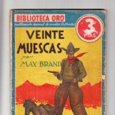Libros antiguos: BIBLIOTECA DE ORO VEINTE MUESCAS AÑOS 30. Lote 167979624