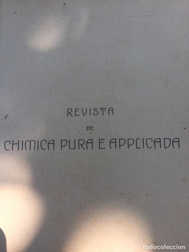 Libros antiguos: Libro quimica aplicada 1907 - Foto 3 - 167993804