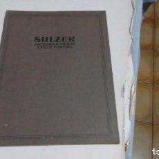 Libros antiguos: SULZER - MACHINES A VAPEUR A FLUX CONTINU. Lote 168009184