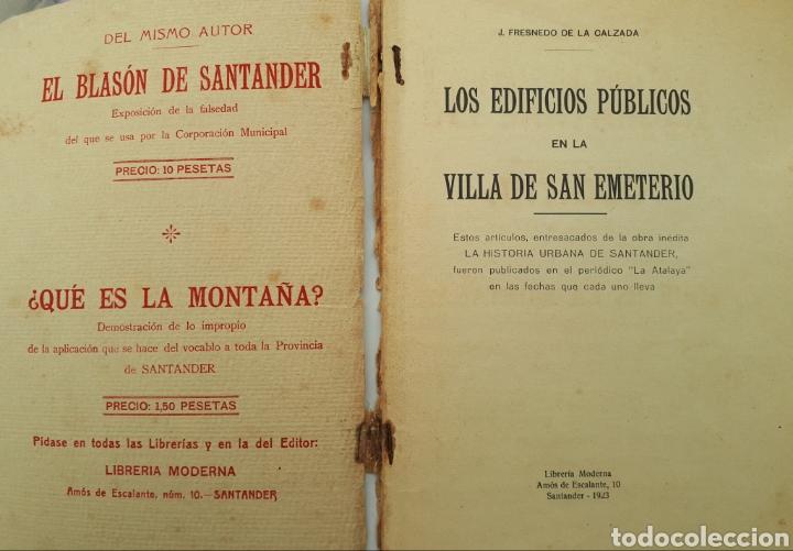Libros antiguos: DEL SANTANDER ANTIGUO. J. Fresnedo de la Calzada. 1923 - Foto 4 - 168033372