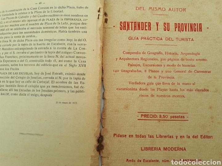 Libros antiguos: DEL SANTANDER ANTIGUO. J. Fresnedo de la Calzada. 1923 - Foto 5 - 168033372