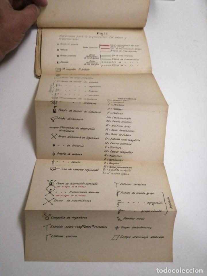 Libros antiguos: Reglamento de organización y preparación del terreno para el combate. 1927 Madrid. Tomo I Láminas. - Foto 5 - 168033532