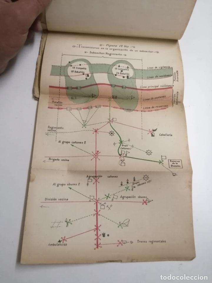 Libros antiguos: Reglamento de organización y preparación del terreno para el combate. 1927 Madrid. Tomo I Láminas. - Foto 6 - 168033532