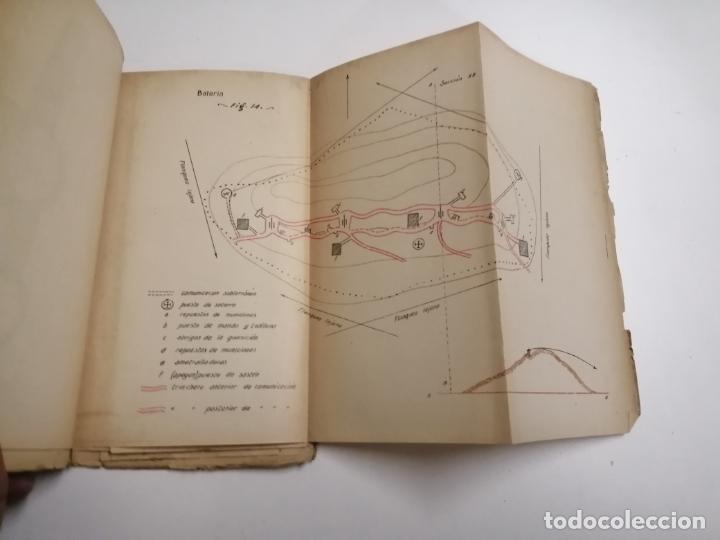 Libros antiguos: Reglamento de organización y preparación del terreno para el combate. 1927 Madrid. Tomo I Láminas. - Foto 7 - 168033532