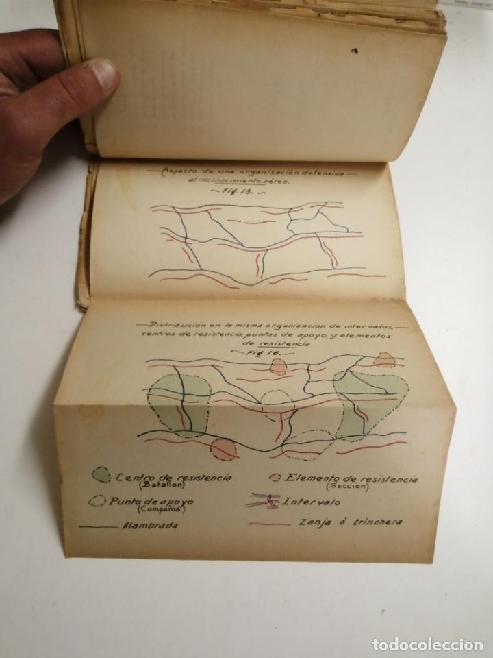 Libros antiguos: Reglamento de organización y preparación del terreno para el combate. 1927 Madrid. Tomo I Láminas. - Foto 8 - 168033532