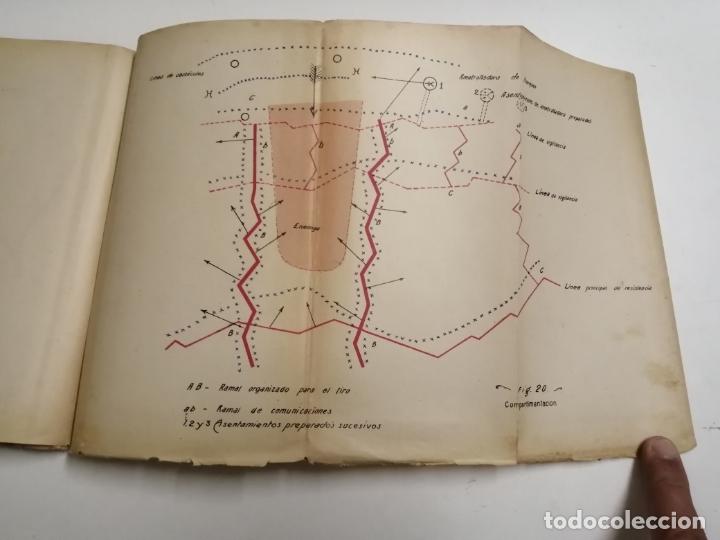 Libros antiguos: Reglamento de organización y preparación del terreno para el combate. 1927 Madrid. Tomo I Láminas. - Foto 11 - 168033532