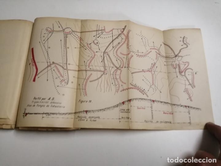 Libros antiguos: Reglamento de organización y preparación del terreno para el combate. 1927 Madrid. Tomo I Láminas. - Foto 12 - 168033532