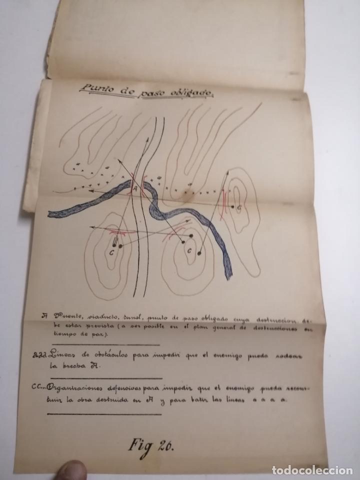 Libros antiguos: Reglamento de organización y preparación del terreno para el combate. 1927 Madrid. Tomo I Láminas. - Foto 14 - 168033532