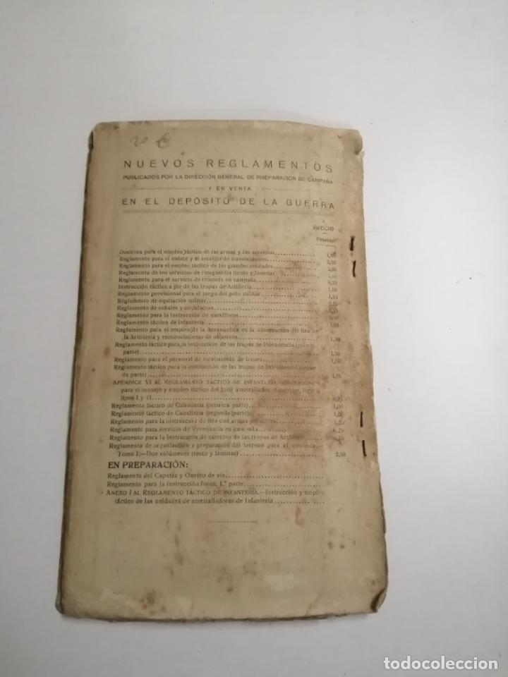 Libros antiguos: Reglamento de organización y preparación del terreno para el combate. 1927 Madrid. Tomo I Láminas. - Foto 15 - 168033532