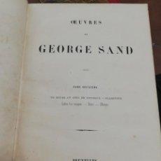 Libros antiguos: OEUVRES DE GEORGE SAND. TOME DEUXIEME. BRUXELLES, 1842. Lote 168150560