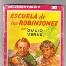 Libros antiguos: ESCUELA DE LOS ROBINSONES POR JULIO VERNE AÑOS 30-40. Lote 168156868