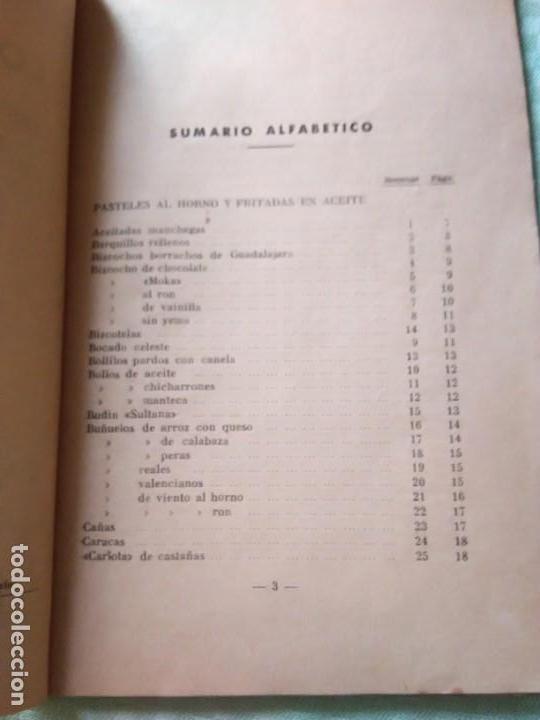 Libros antiguos: LOS POSTRES. BIBLIOTECA EL AMA DE CASA. De G. Bernard de Ferrer - Foto 5 - 168183660