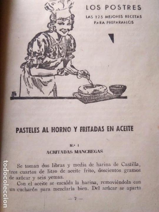 Libros antiguos: LOS POSTRES. BIBLIOTECA EL AMA DE CASA. De G. Bernard de Ferrer - Foto 8 - 168183660