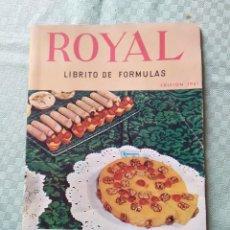Libros antiguos: ROYAL LIBRITO DE FÓRMULAS. Lote 168183712